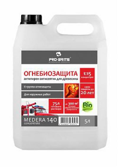 Medera 140 Concentrate Антисептик-антипирен (II группа огнезащиты). Для наружных работ. Концентрат 1:15.