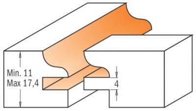 Набор фрез для мебельной обвязки, 2 фрезы