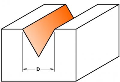 Фрезы гравировальные (угол 60°) Z=3