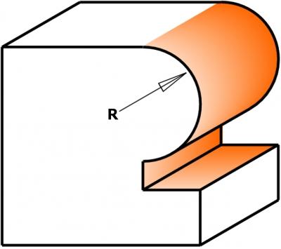 Фрезы с подшипником для закругления углов