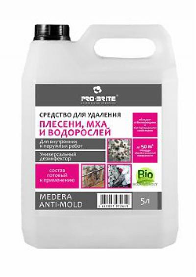 Medera Anti-Mold Средство для удаления плесени, мха и водорослей - универсальный дезинфектор. Для наружных и внутренних работ. Готовый к применению раствор.