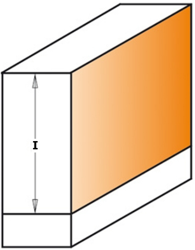 Фрезы алмазные обгонные по ламинату ØD=12,7 мм Z2