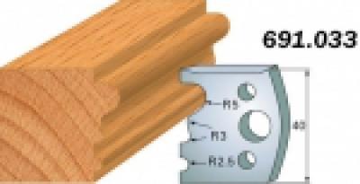 Комплекты ножей и ограничителей серии 690/691 #033