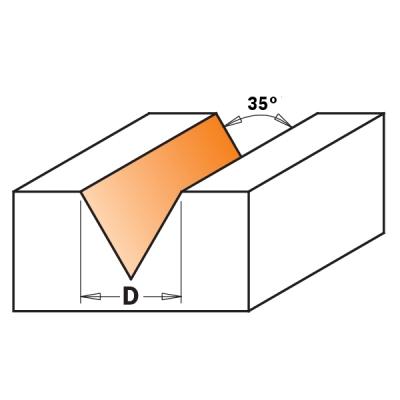Гравировальная фреза 35°
