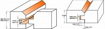 Комплект из 2-х фрез для ВАГОНКИ