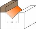 Фрезы пазовые V-образные 90° с подшипником