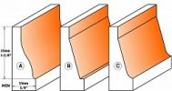 Вертикальная филенка для гнутых фасадов