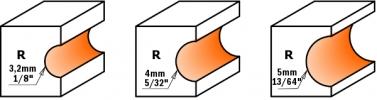 Фрезы для боковых полукруглых пазов c подшипником