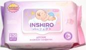 Салфетки влажные детские inshiro экстракт алоэ и ромашки, 90шт/упак