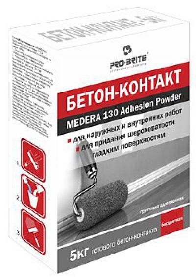 Medera 130 Adhesion Powder  Грунтт бетон-контакт, грунтовка адгезионная бесцветная. Для наружных и внутренних работ. Концентрат 1:5.