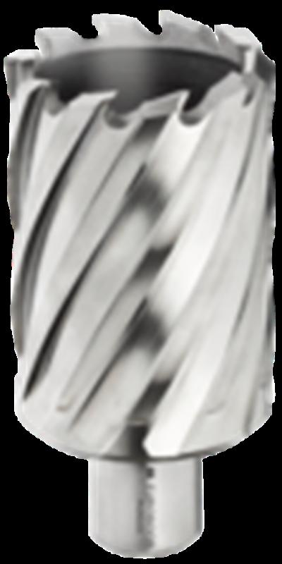 HSS кольцевые фрезы длиной 75 мм. Размеры: Ø 12 - Ø 50 мм. Хвостовик Weldon