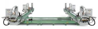Горизонтальный 4-6-8 головочный сварочный  автомат Urban AKS 6605